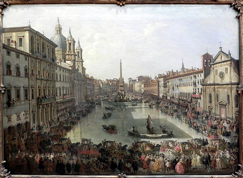 Pannini Paint of Piazza Navona
