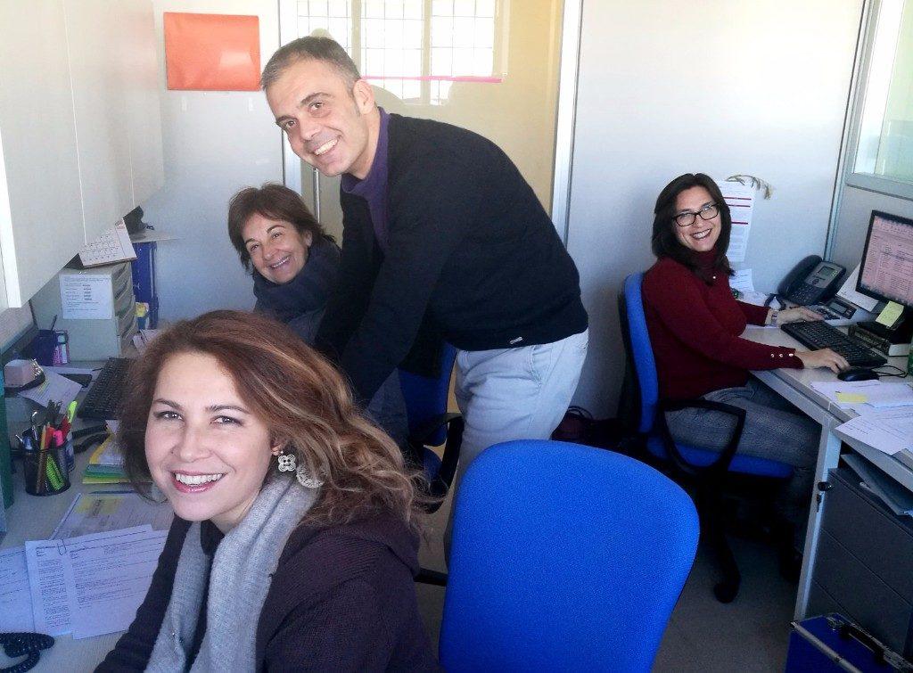 Daniza, Lanfranca, Matteo and Giusi - Carrani Tours Group department
