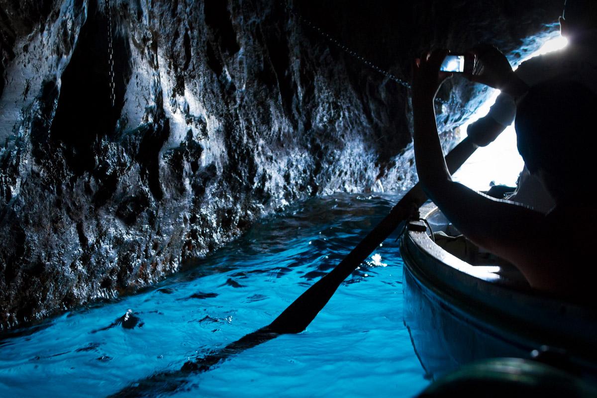 Inside the Blue Grotto - Capri