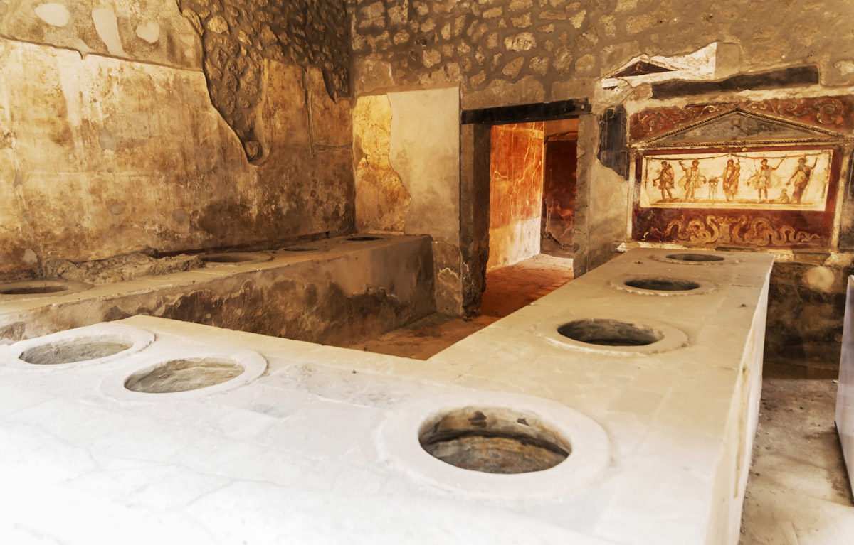 A kind of saloon in Ancient Pompeii