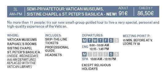 Info Semi-Private Vatican Tour