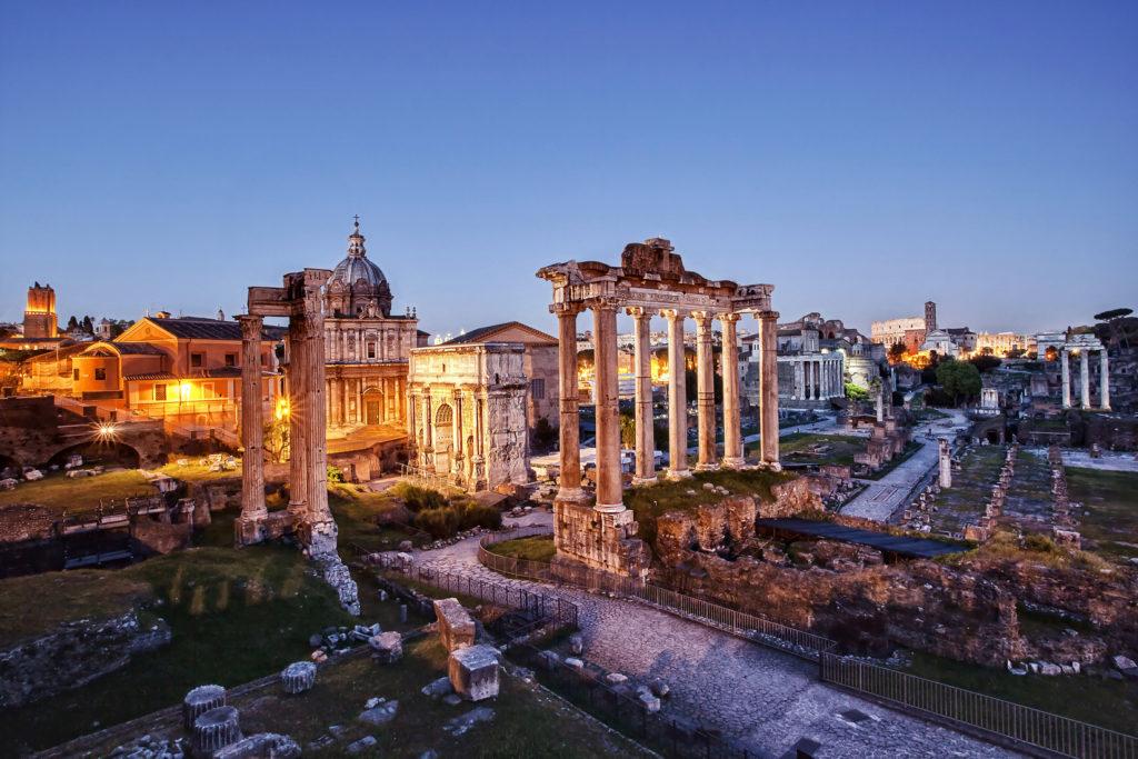 Roman Forum at sunset