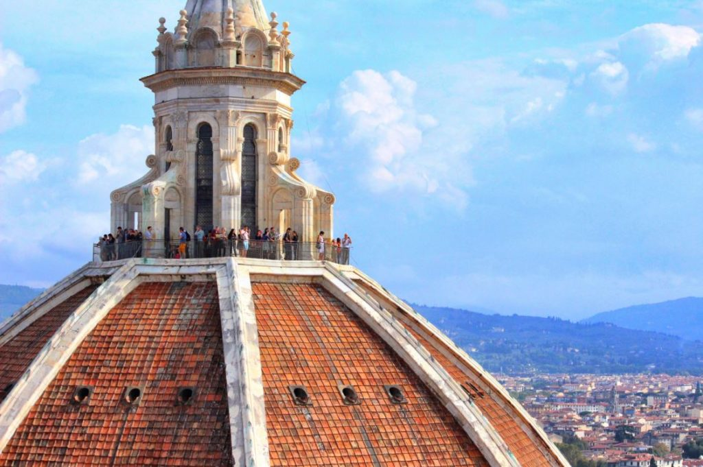 On top of Santa Maria Novella's dome, in Florence