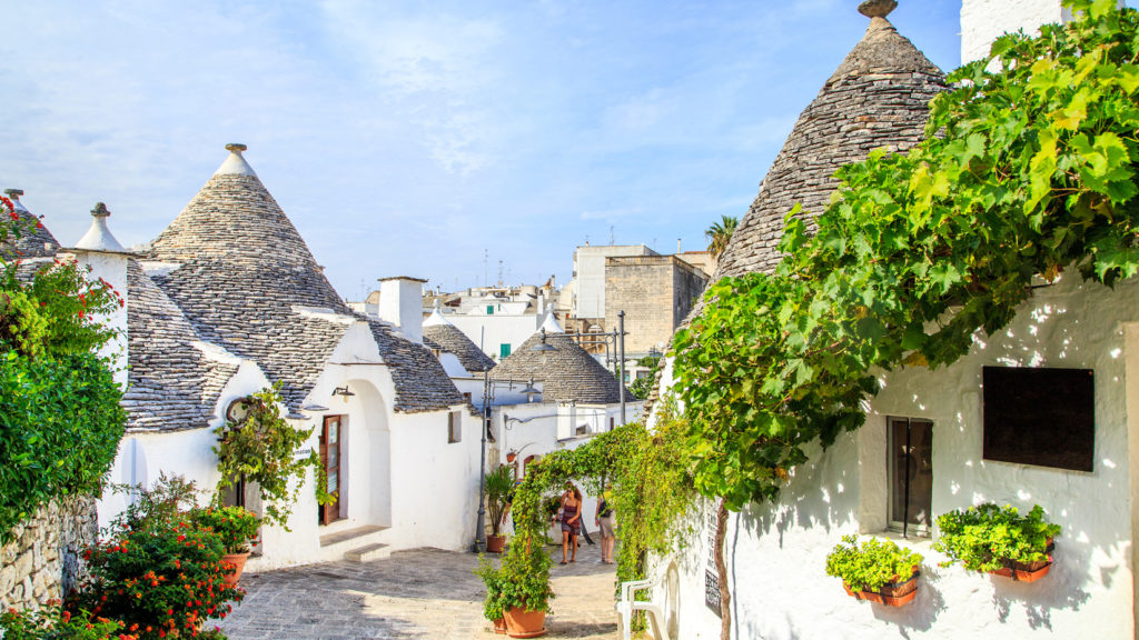 Typical Trulli in Alberobello